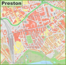 Preston city center map