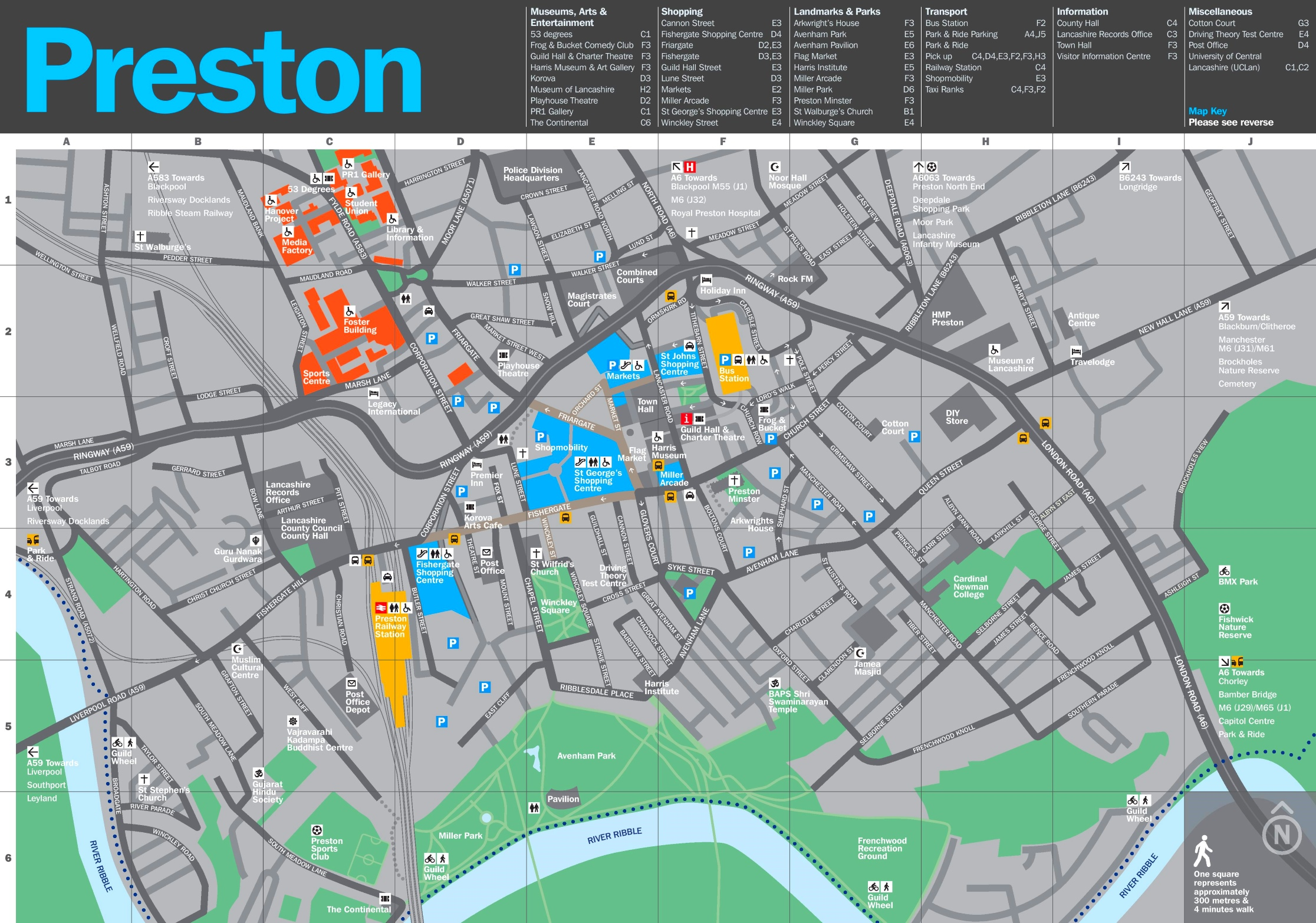 Map Of Preston Preston tourist map