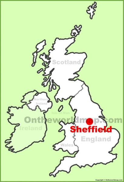 Sheffield Location Map