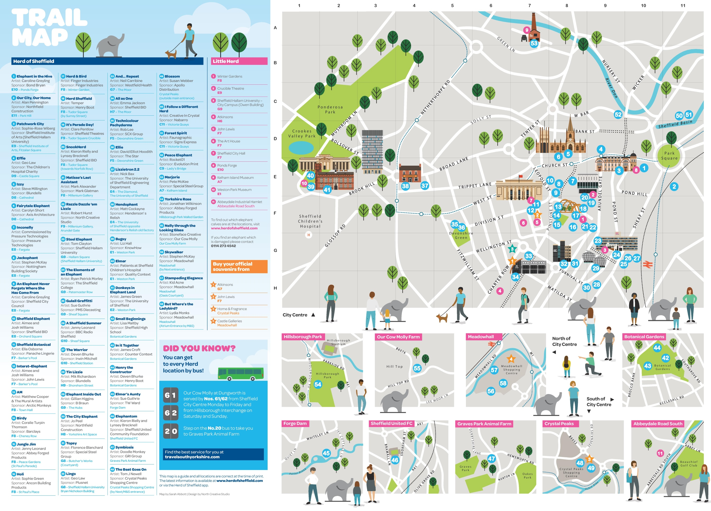 Sheffield tourist attractions map