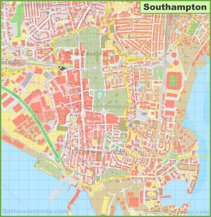 Southampton city center map