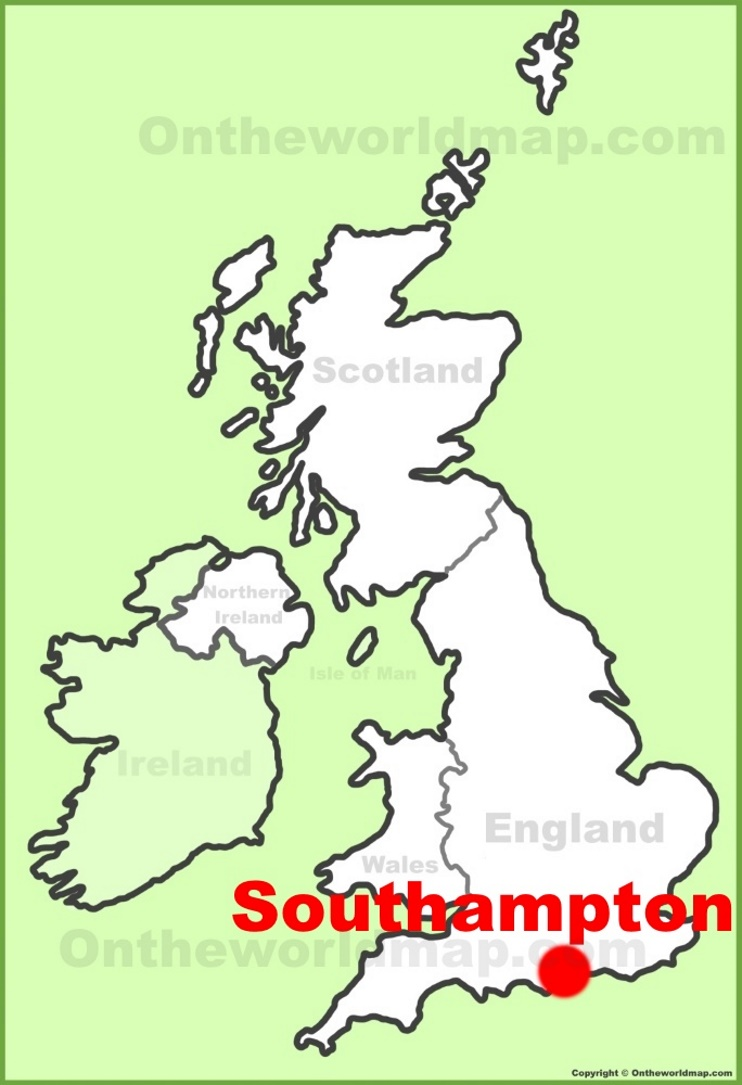 Southampton location on the UK Map
