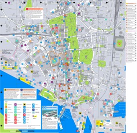 Southampton tourist map