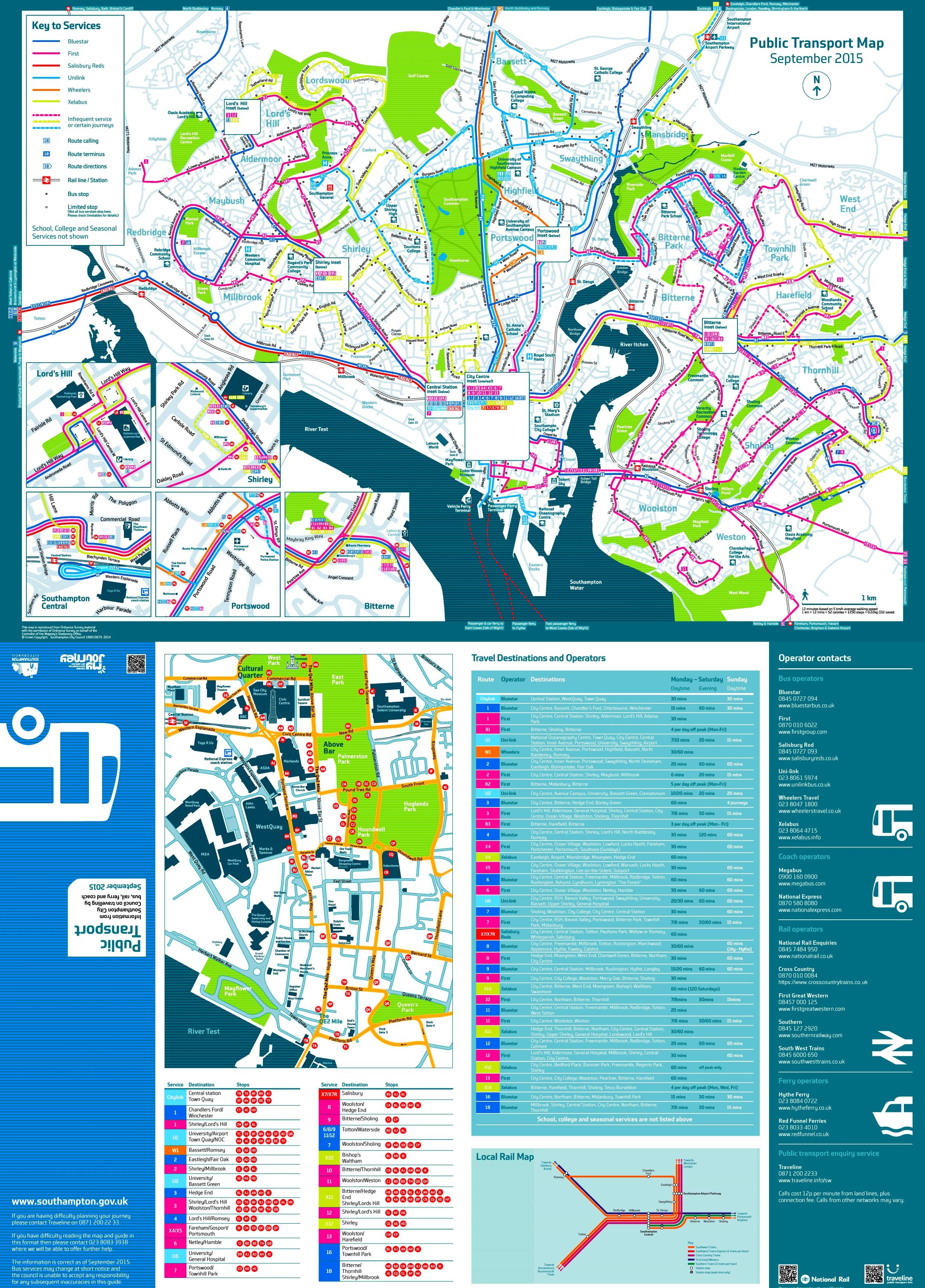 Southampton transport map