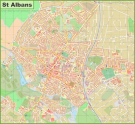 Detailed map of St Albans