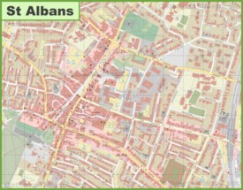 St Albans city center map