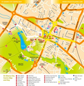 St Albans tourist map