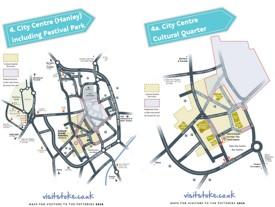 Hanley tourist map