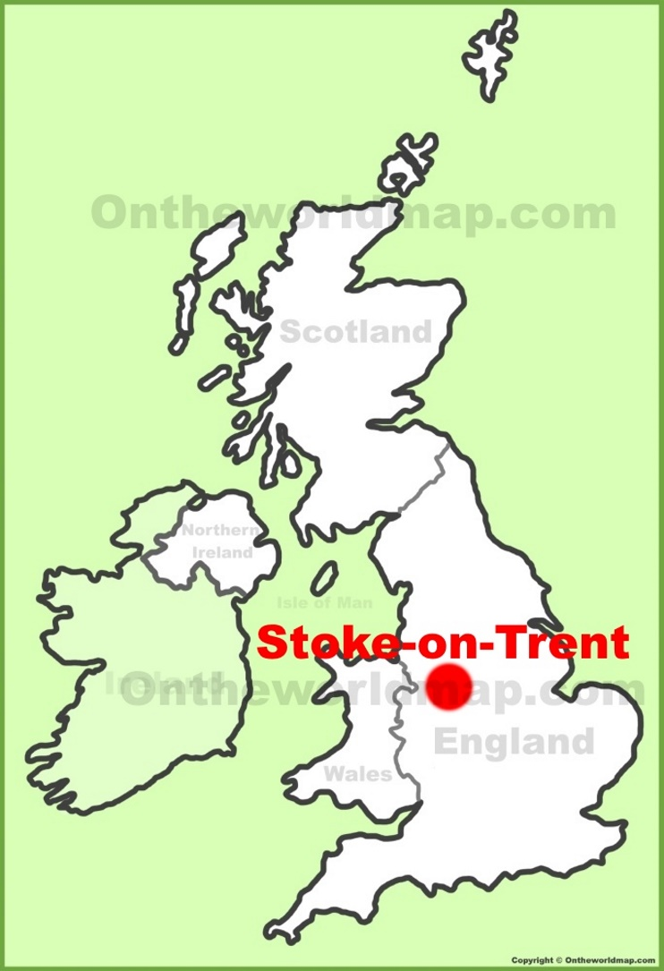 Stoke On Trent Location On The Uk Map