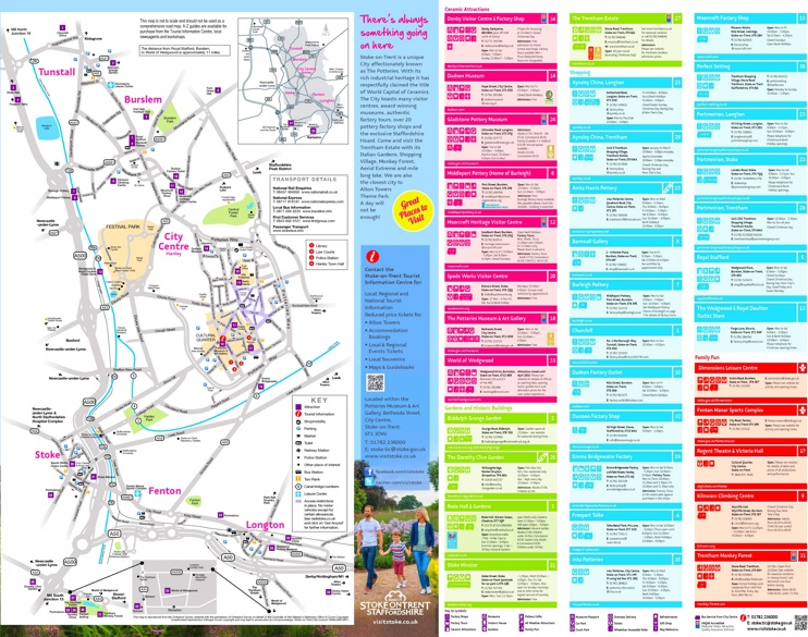 Stoke-on-Trent sightseeing map