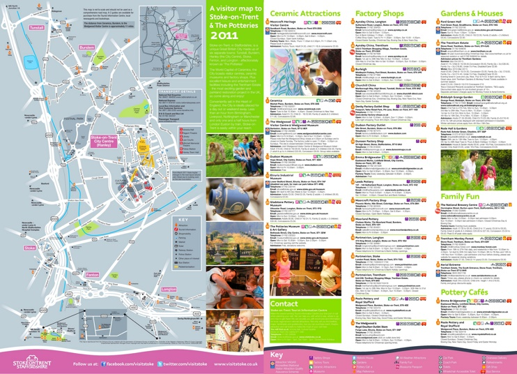 Stoke-on-Trent tourist map