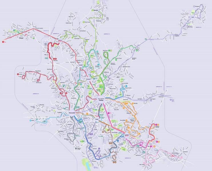 Stoke-on-Trent transport map