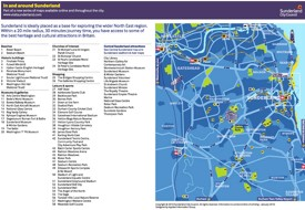 Sunderland area tourist map
