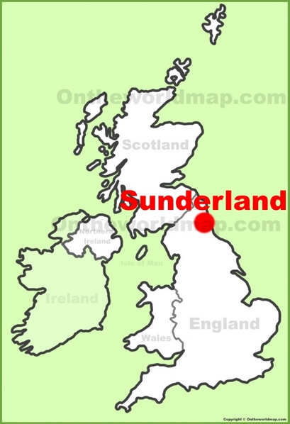 Sunderland Location Map