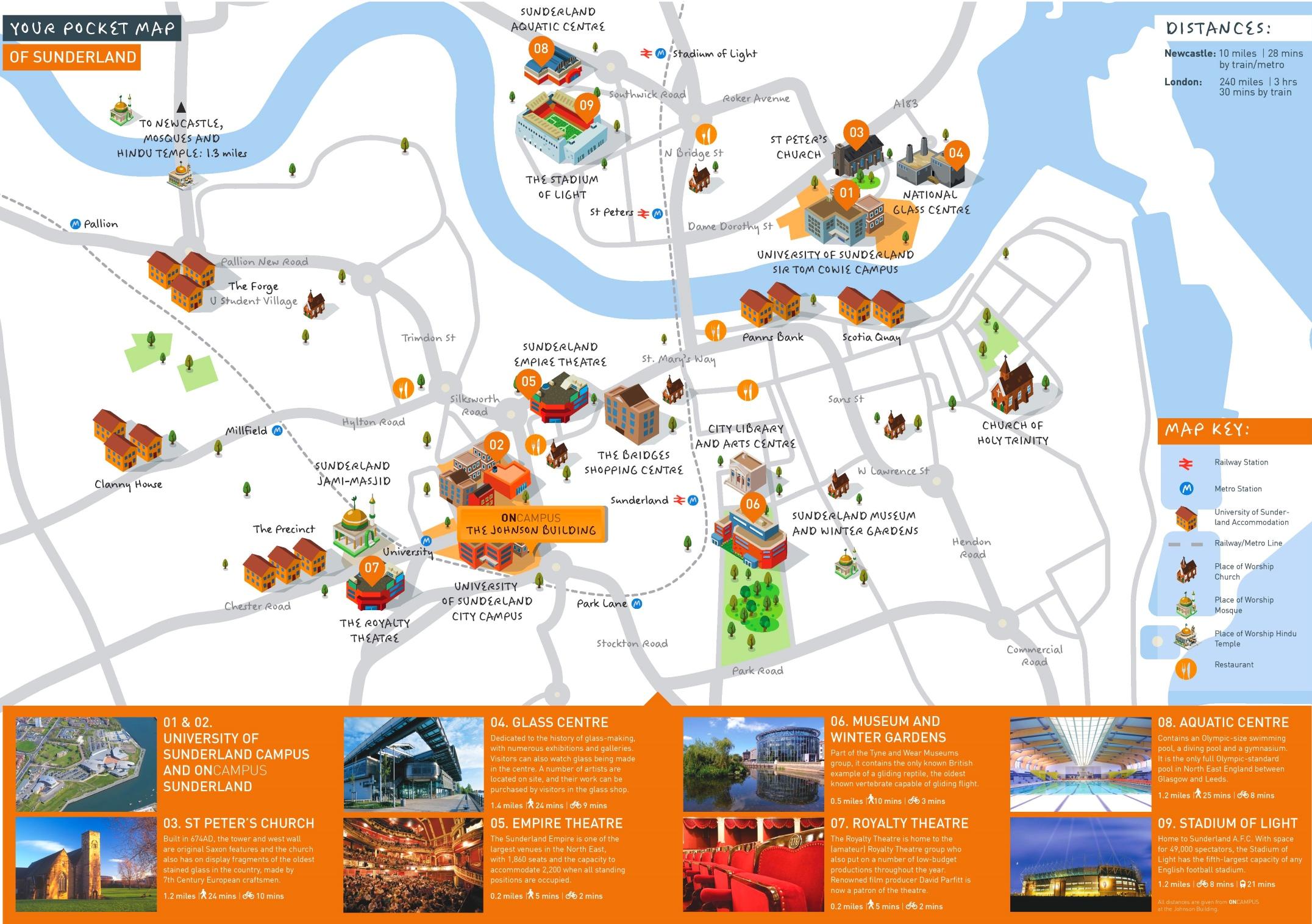Sunderland travel map