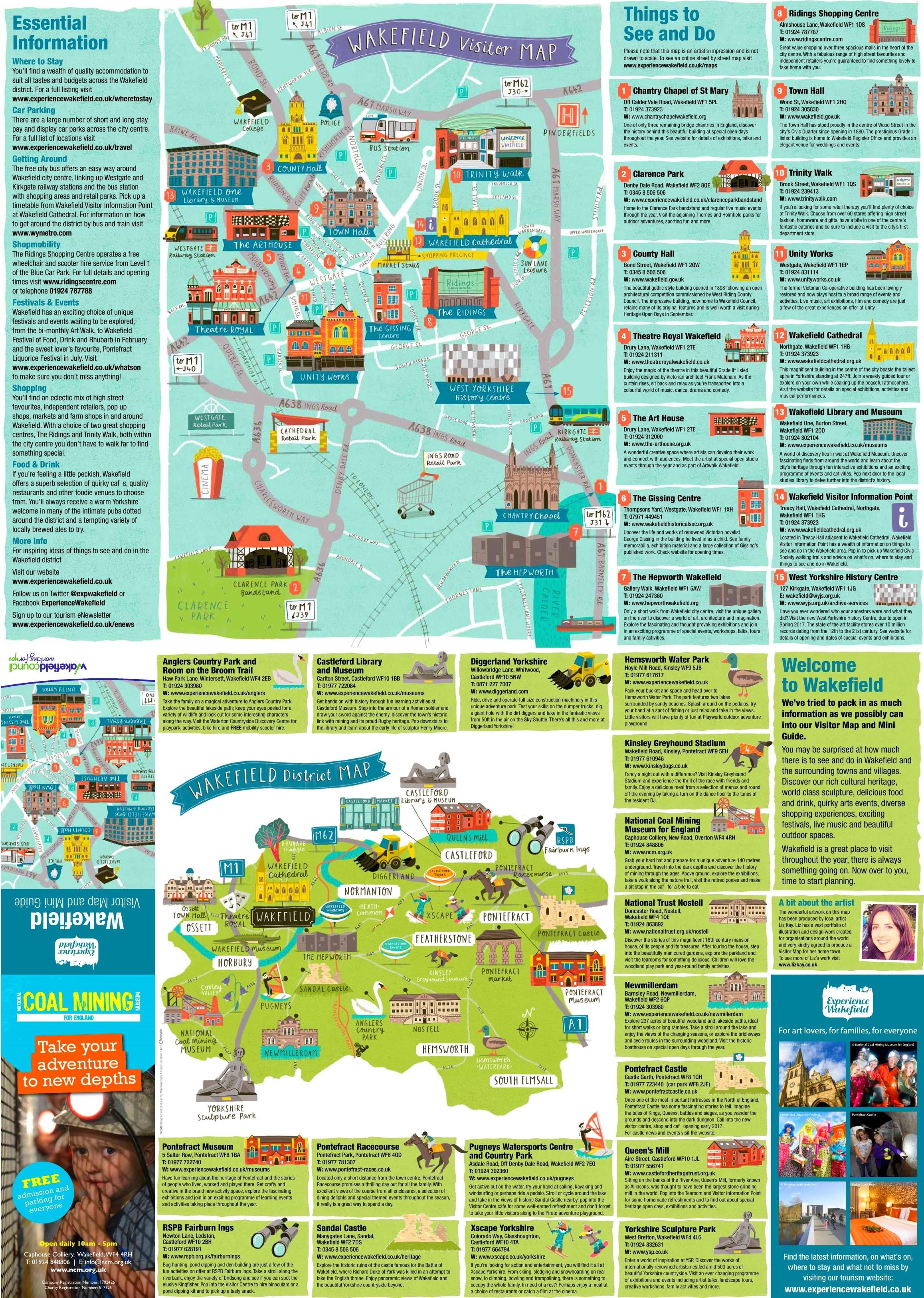 Wakefield sightseeing map