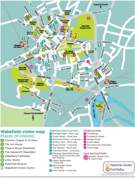 Wakefield tourist map
