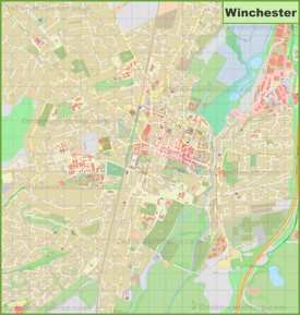 Detailed map of Winchester
