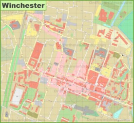 Winchester city center map
