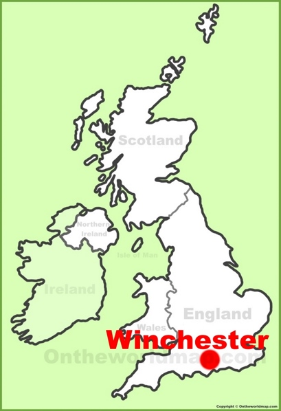 Winchester Location Map