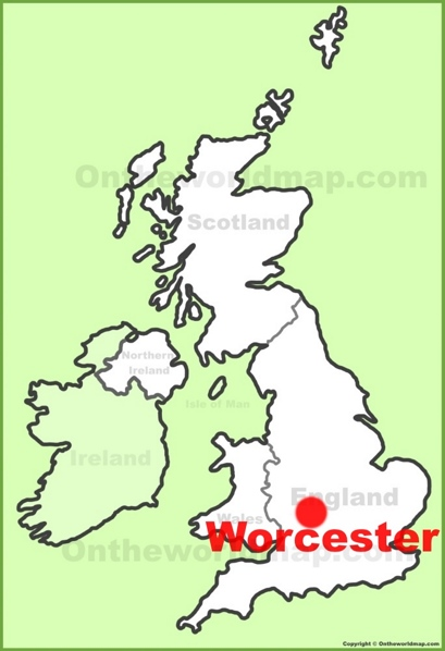 Worcester Location Map