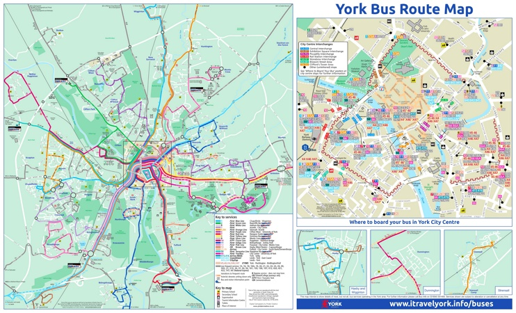 York bus map