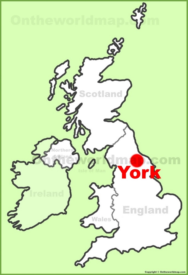 York location on the UK Map