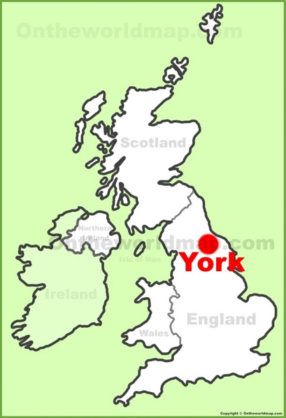 York Location Map