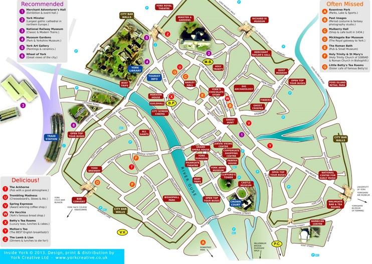 York sightseeing map
