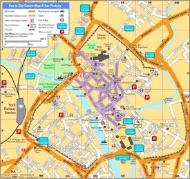 York tourist map