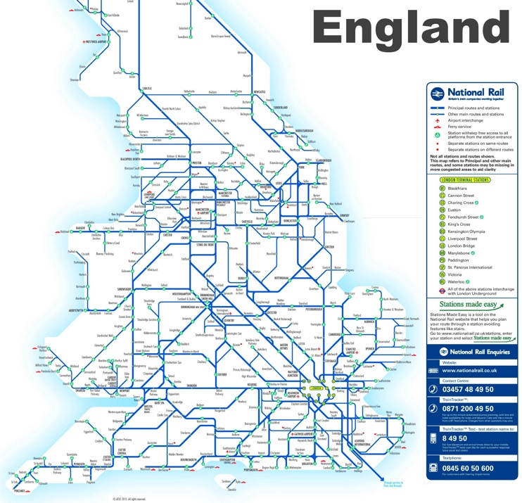 Map Of England Rail.England Rail Map