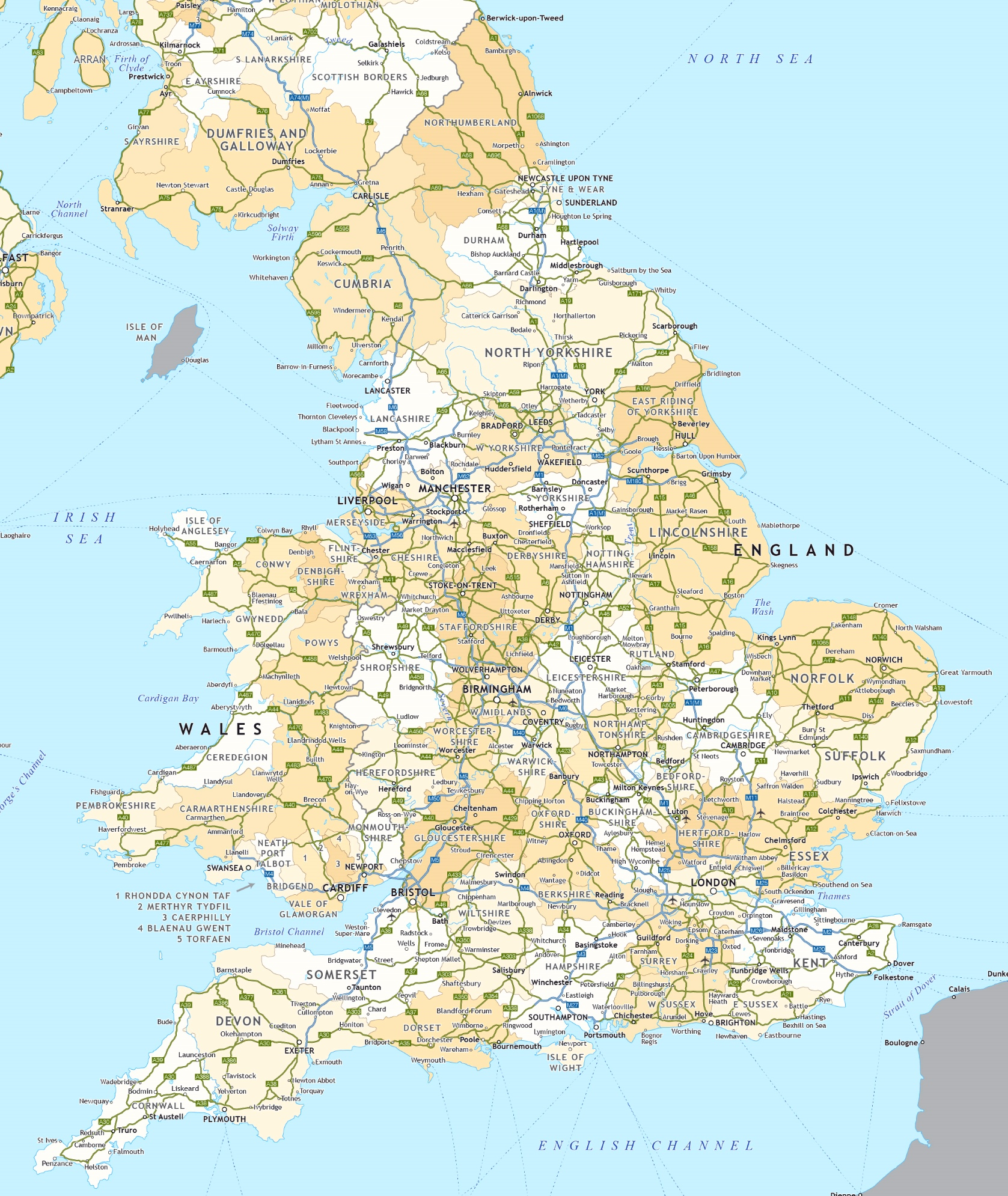 Road Maps Of Uk England road map