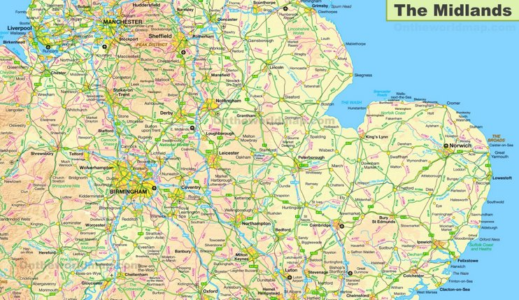 The Midlands Map