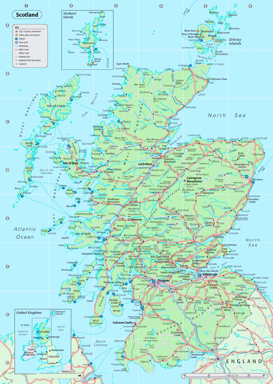 Map Of Scotland Detailed map of Scotland Map Of Scotland