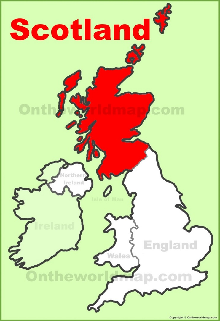 Map Of Uk Scotland And Ireland.Scotland Location On The Uk Map