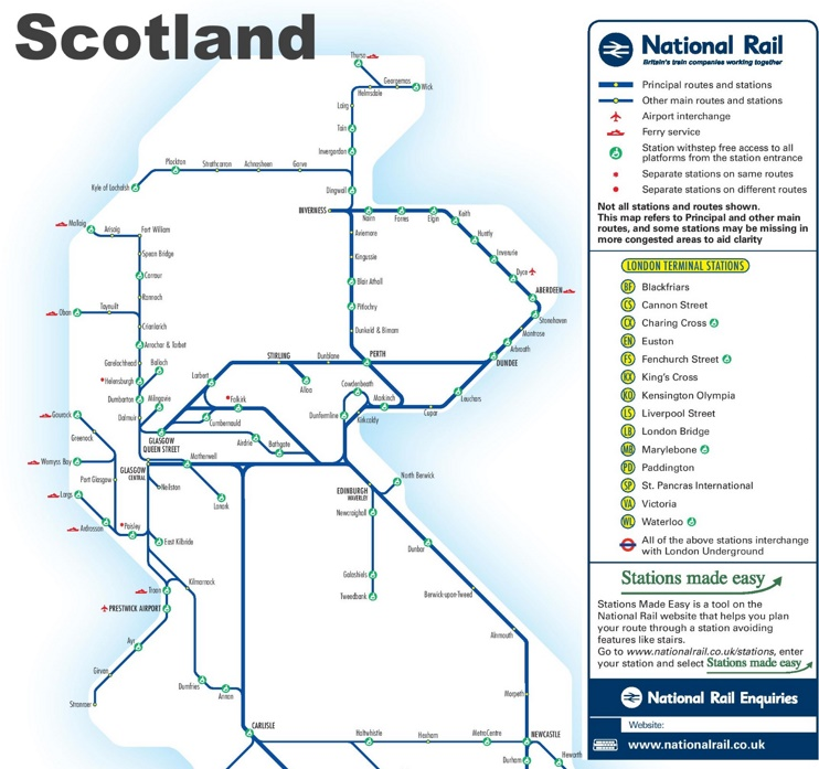 Scotland rail map