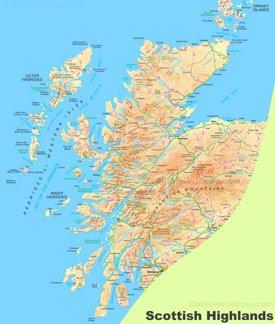 Scottish Highlands Map