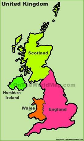 UK countries map