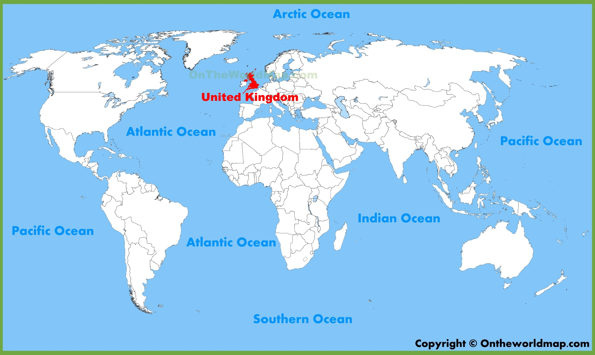 United Kingdom On The World Map.United Kingdom Uk Location On The World Map
