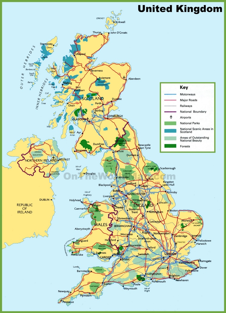 UK national parks map