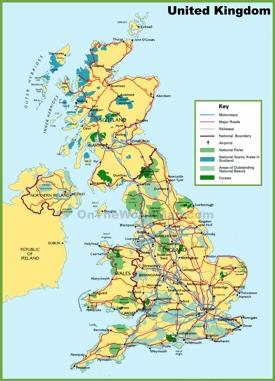 UK national parks map