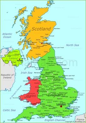 image relating to Printable Map of Uk and Ireland identify British isles Maps Maps of United Kingdom