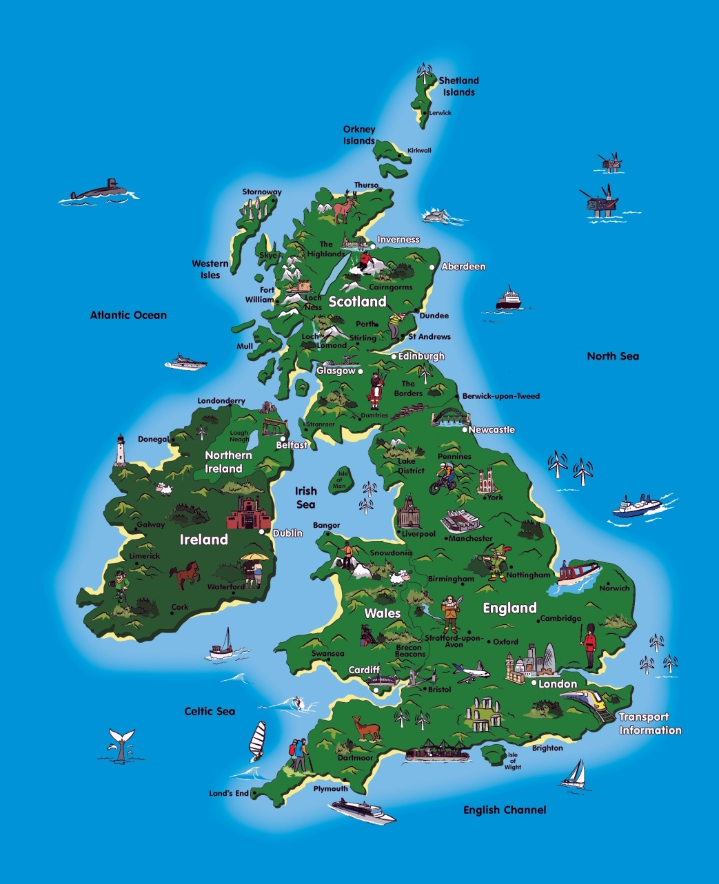 UK tourist map – Scotland Tourist Attractions Map