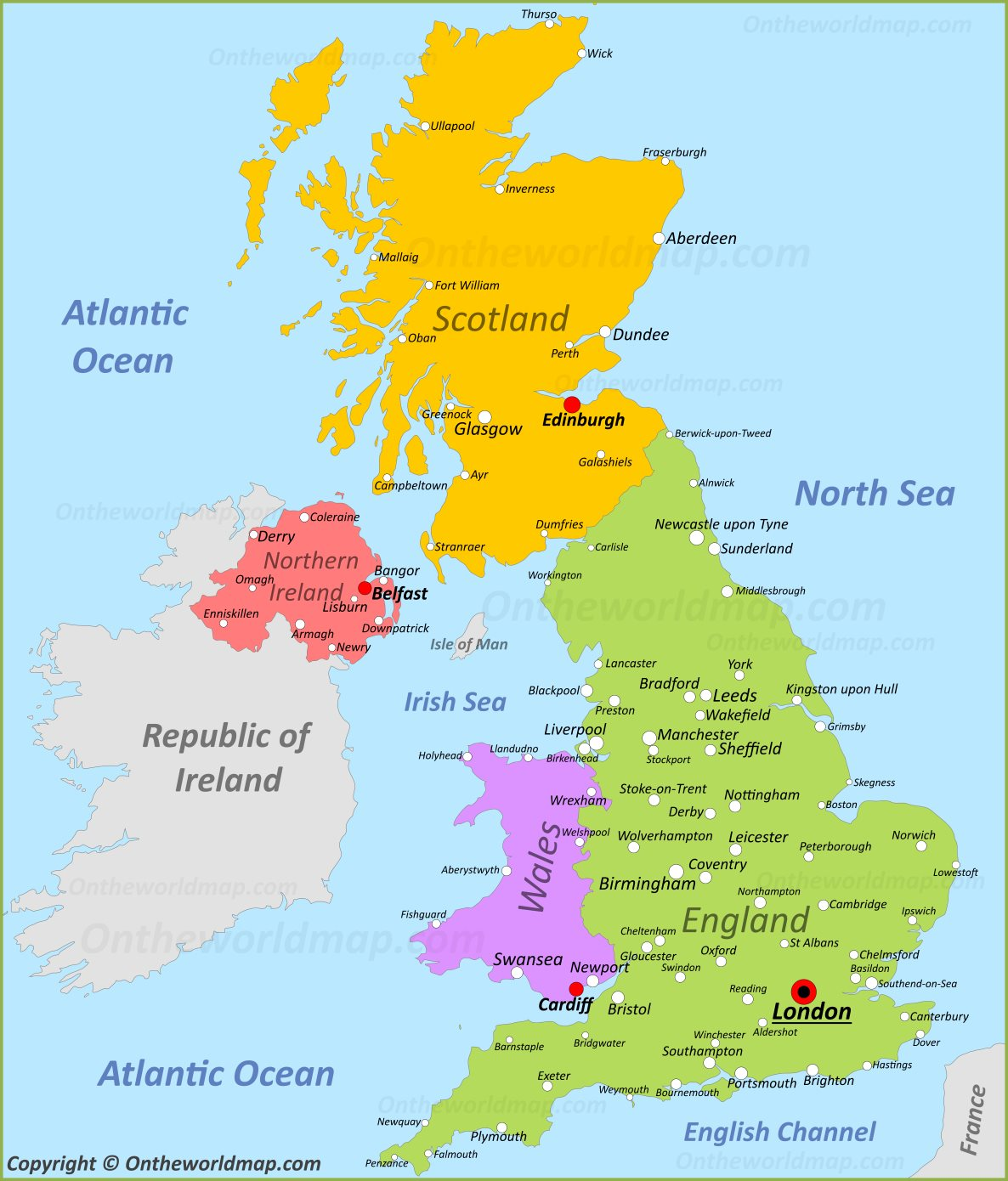 graphic relating to Printable Map of Uk and Ireland named Printable Map Of United kingdom Twitterleesclub