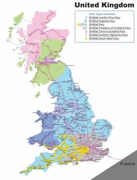 United Kingdom rail map