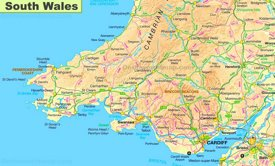 Map of South Wales