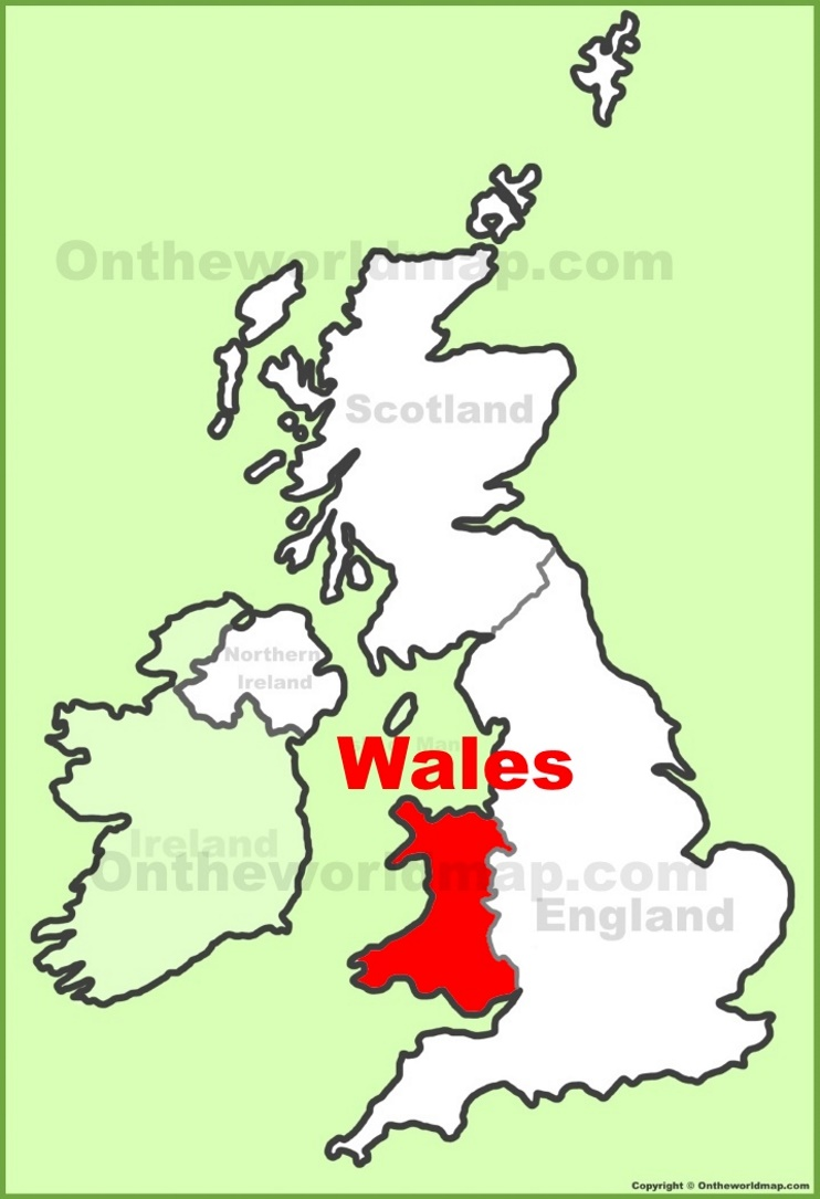 Wales Map Uk Wales location on the UK Map