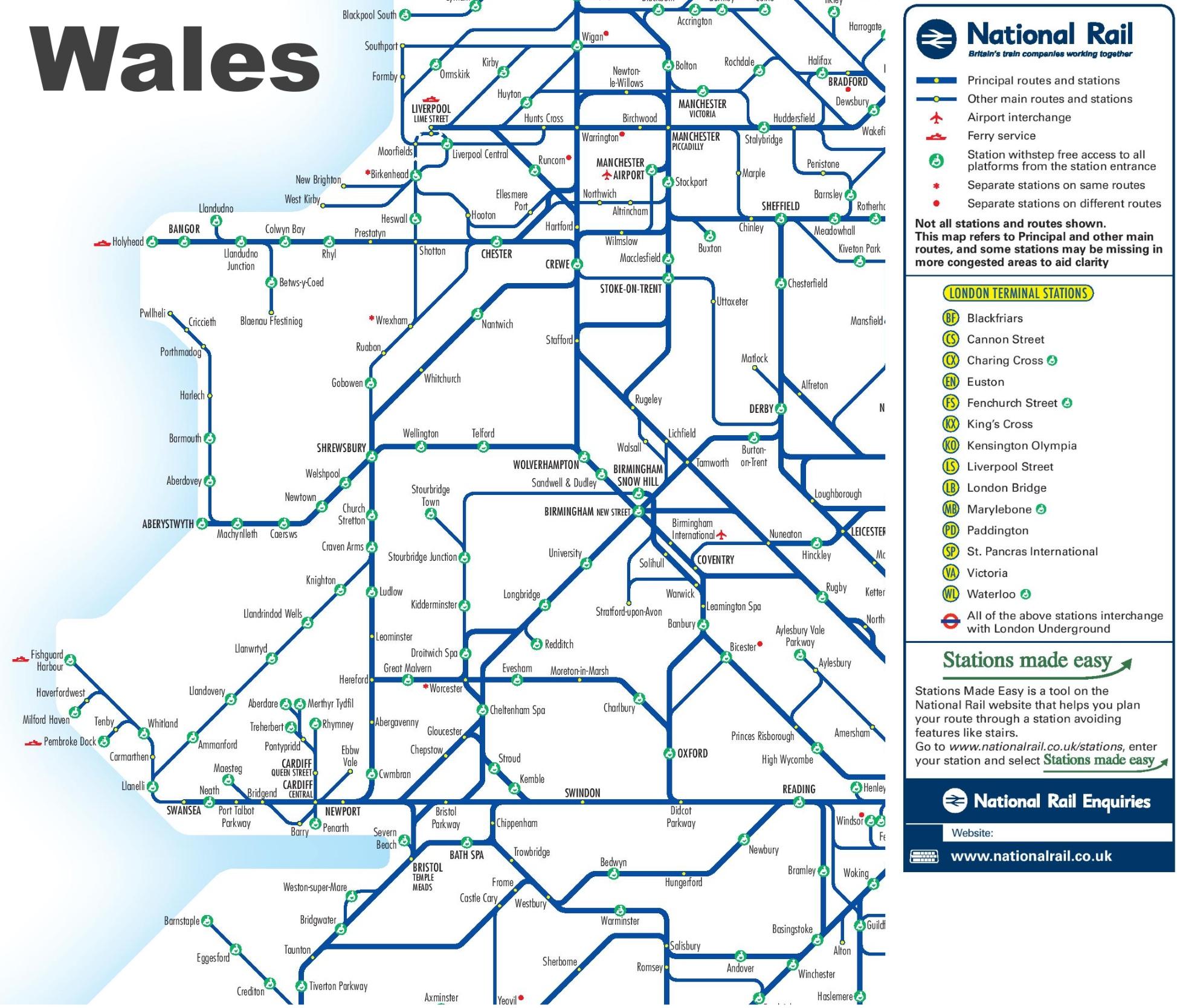 wales rail map
