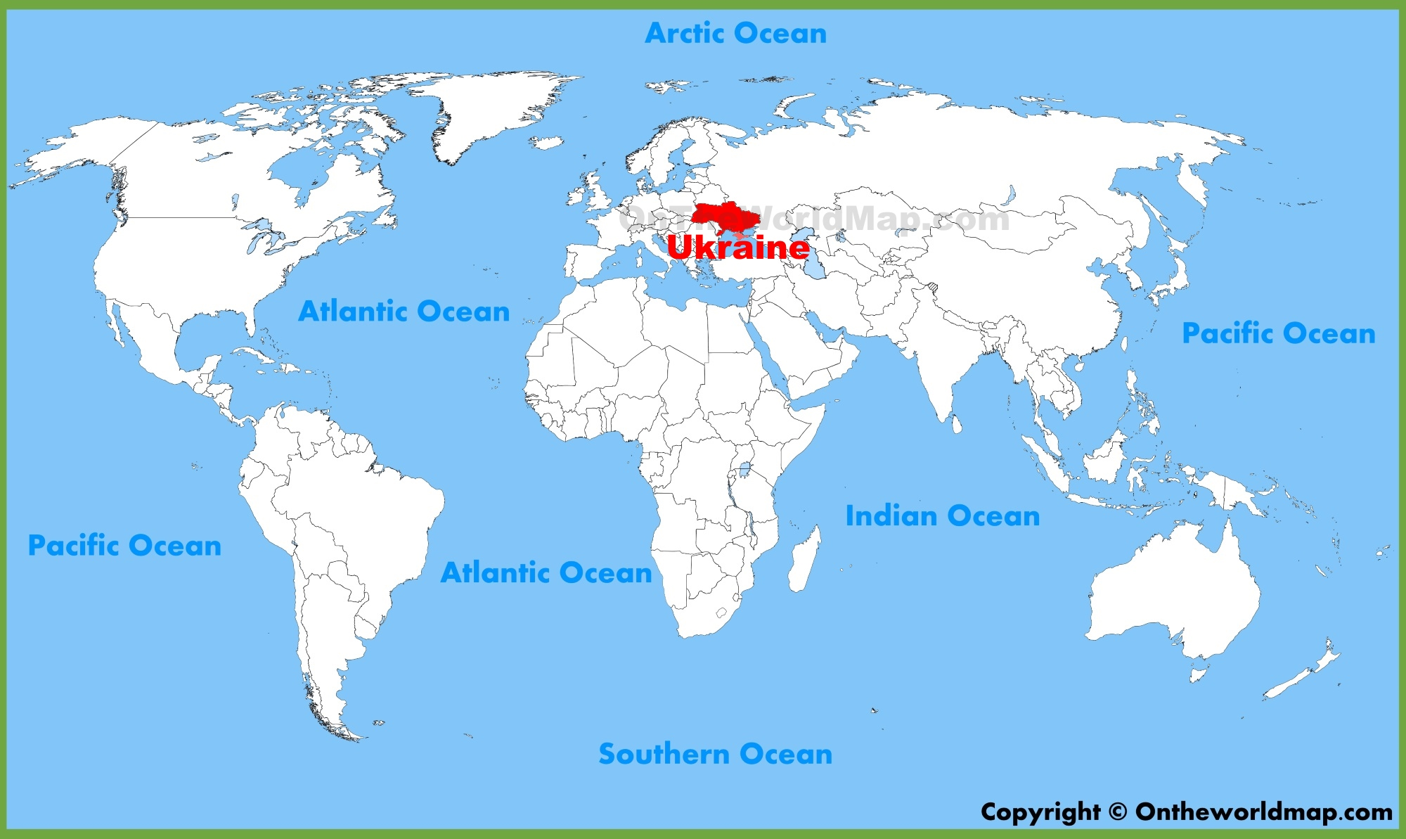 Ukraine On World Map Ukraine location on the World Map
