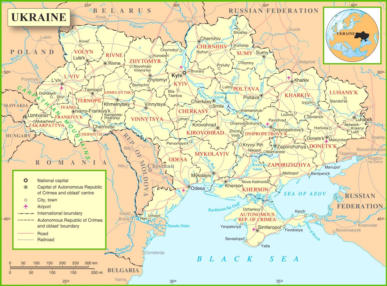 Ukraine Political Map - Ukraine political map